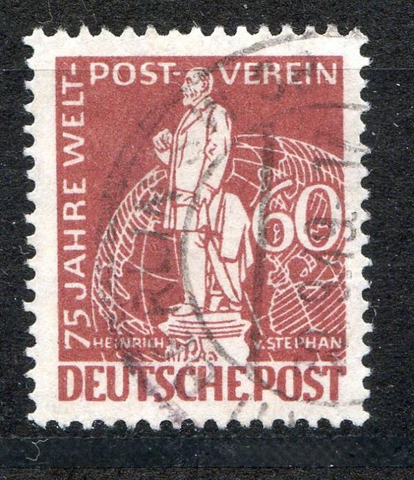 Unter Der Voraussetzung Berlin 1949 Gestemoelt Minr 39 75 Jahre Weltpostverein Upu Briefmarken
